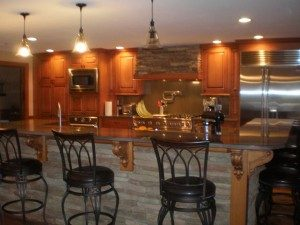 Image of a bar using Osborne wood corbel and leg.