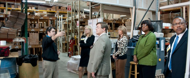 Georgia Department of Labor tours Osborne Wood Products