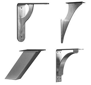 New Metal Countertop Brackets added to the Osborne Line
