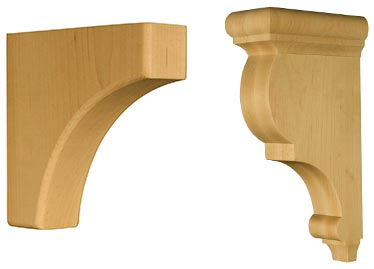 Traditional Corbel and Traditional Bracket