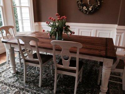 Farm Coffee Table Leg and Massive Farm Dining Table Leg