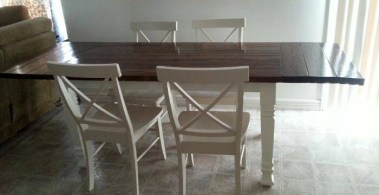 Square Farm Dining Table Leg