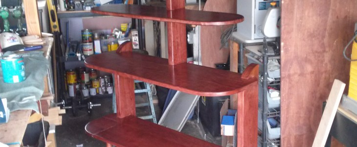From Shelf to Sitting Bench - using Osborne Spindles