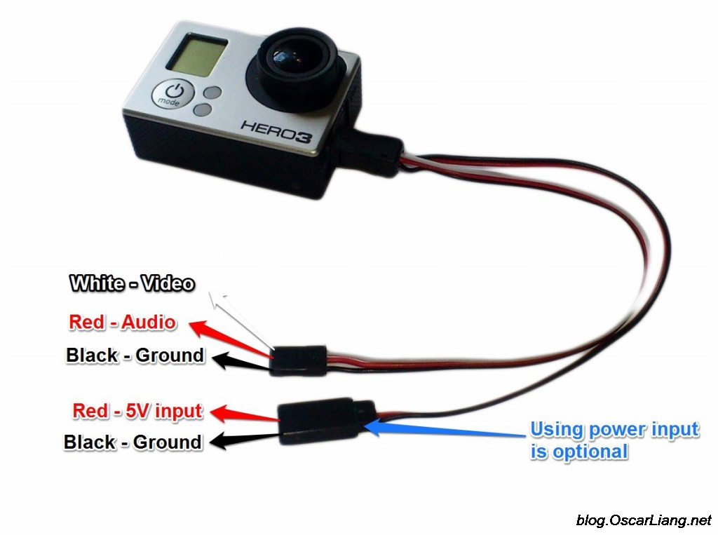 fpv transmitter wiring diagram room thermostat use gopro mobius for camera and external power - oscar liang