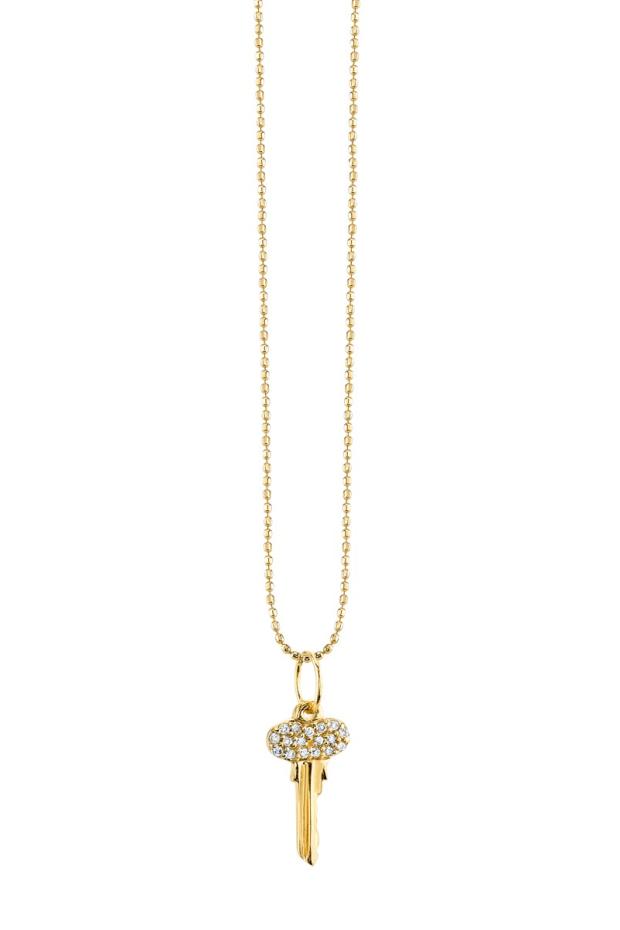 Sydney Evan Diamond Key Charm Necklace | Oster Jewelers
