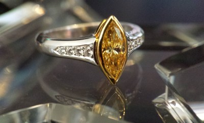 Louis Glick Marquise Yellow Diamond Ring | Oster Jewelers Blog #mybridalstyle #mydiamondstyle