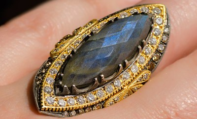 Suneera Labradorite Empress Ring With 1.46ctw Diamonds | Oster Jewelers