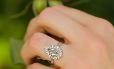 K Brunini Pear Rose Cut Diamond Ring | Oster Jewelers Blog #mybridalstyle #mydiamondstyle