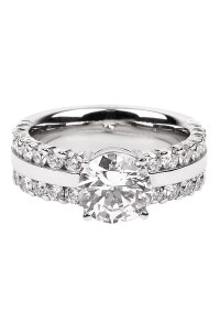Furrer Jacot Lucienne Diamond 2 Row Platinum Semi-Mount Ring | Oster Jewelers Blog