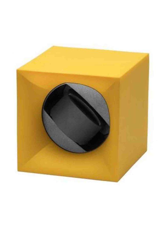 12 Kubik Single Watch Winder Box Yellow