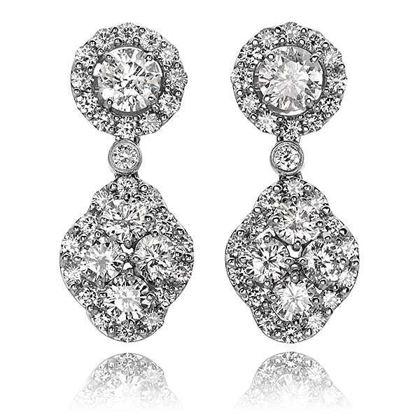 Hammerman Diamond Drop Earrings