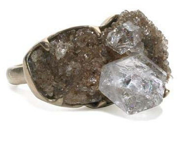 Monique Pean Herkimer Rough Diamond Ring
