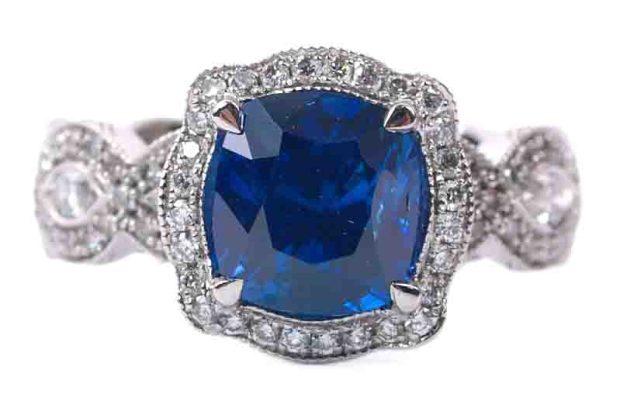 Katharine James Blue Sapphire Ring