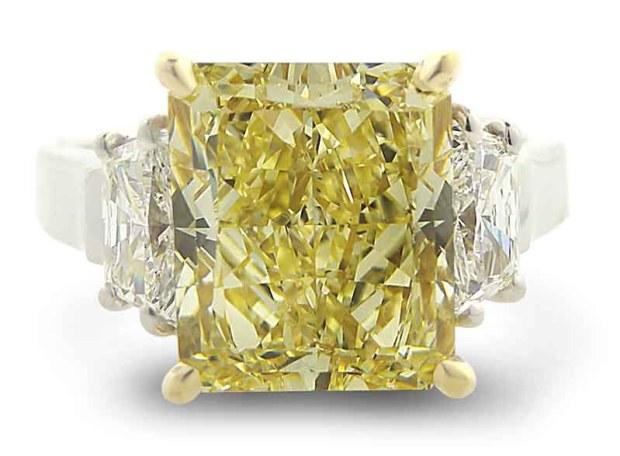 Louis Glick Yellow Diamond Ring