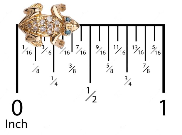 Tsavorite Frog Earring for Scale