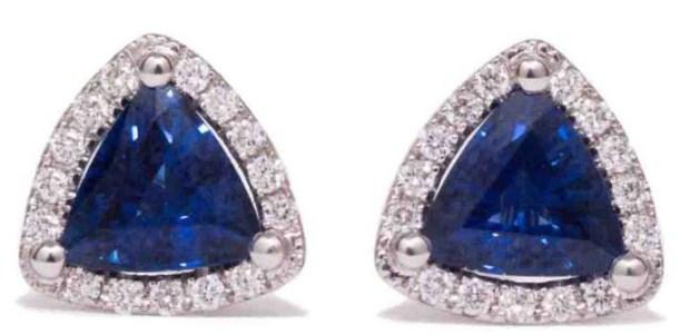 Kimberly Collins Sapphire & Diamond Earrings