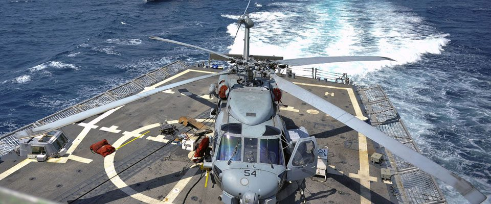 Helicopter Landing Pad on Ship