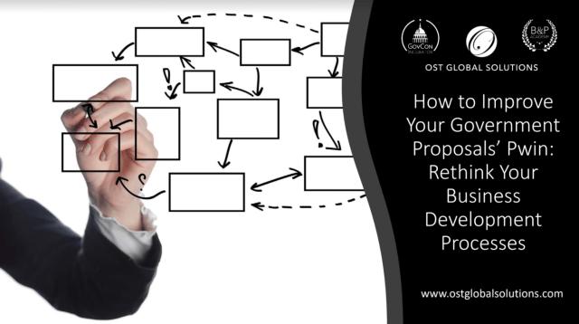 Improve Gov Proposal Pwin BD capture proposal processes