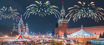 Где смотреть салют в Москве на Новый год