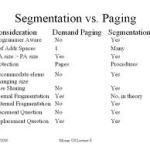 Paging vs Segmentation