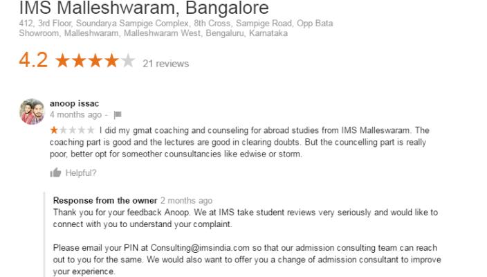 IMS Coaching For IBPS In Malleshwaram, Bangalore
