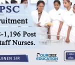 TSPSC Recruitment 2018-1,196 Post for Staff Nurses.
