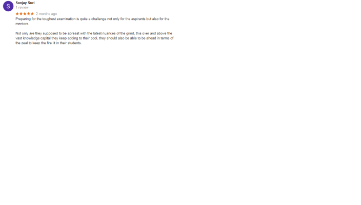IAS Today Chandigarh Google Reviews