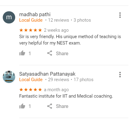 Samal Classes Pvt. Ltd. IIT JEE Coaching Bhubaneswar Reviews