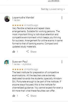 Aaron Educare Kolkata Bank Coaching Reviews
