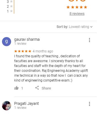 Raj gate academy SSC JE Coaching Delhi Reviews