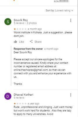 The Chopras Gmat Coaching Kolkata Reviews