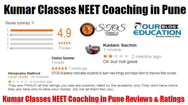 Kumar NEET Classes in Pune Reviews