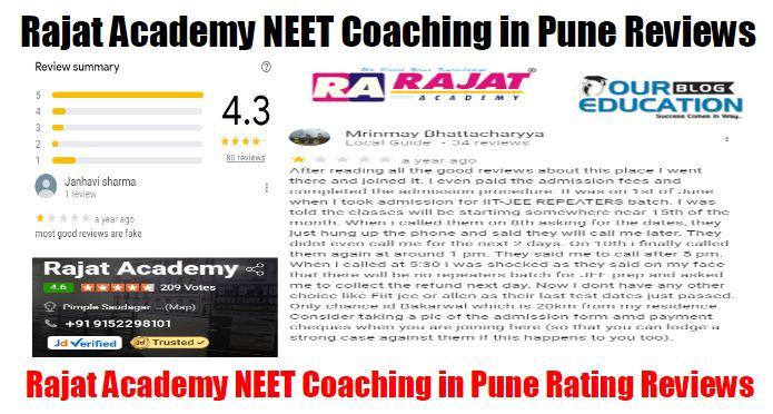 Rajat Academy NEET Coaching Pune Reviews