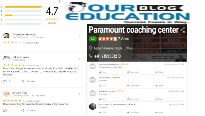 Paramount Bank Coaching Centre In Greater Noida Review