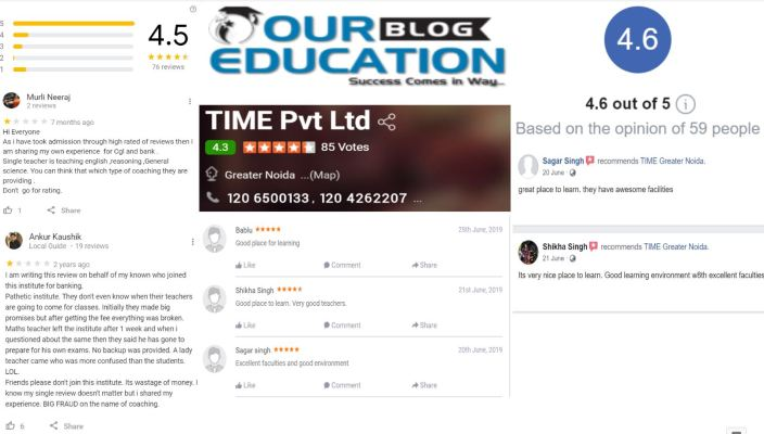 T.I.M.E. Bank Coaching In Greater Noida Review