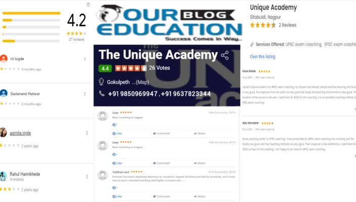 The Unique Academy MPSC Coaching In Nagpur Review
