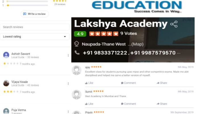 Lakshya IAS Academy MPSC Coaching in Thane reviews