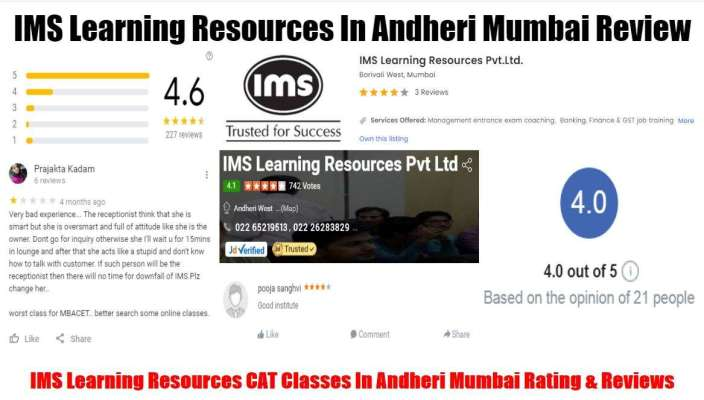 IMS Learning Resources CAT Classes In Borivali Mumbai Review