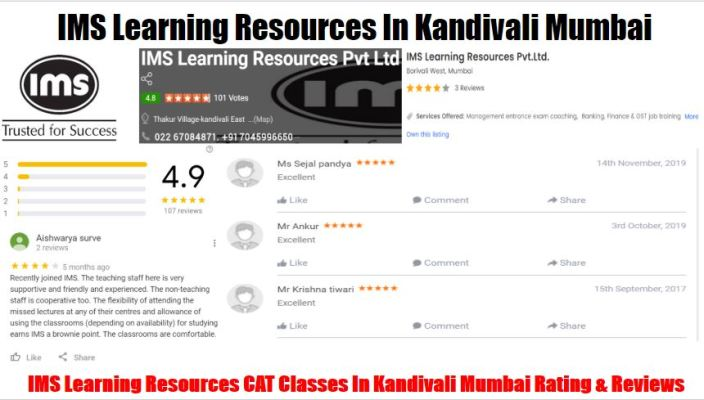 IMS Learning Resources CAT Classes In Kandivali Mumbai Review