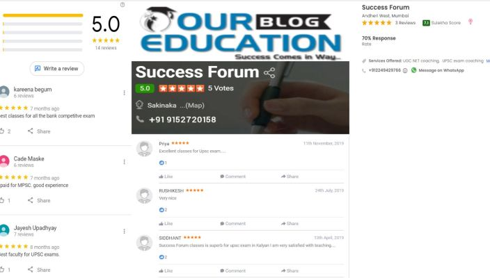 Success Forum SSC Coaching In Andheri Mumbai Review