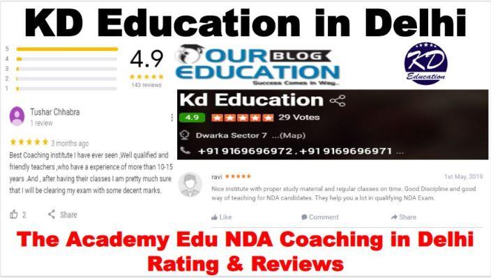 KD Education NDA Coaching in Delhi reviews