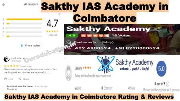Sakthy IAS Academy on Coimbatore