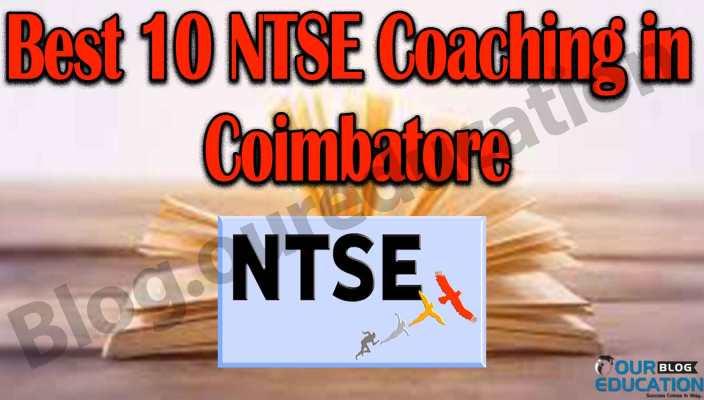Best 10 NTSE Coaching in Coimbatore