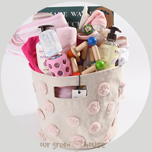 beautiful baby gift basket - girl
