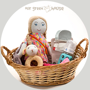 Bright Custom Baby Gift Basket