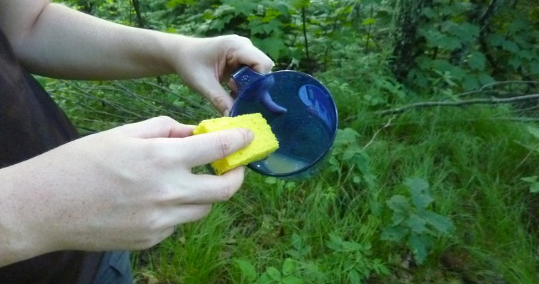 Doing dishes in the backwoods