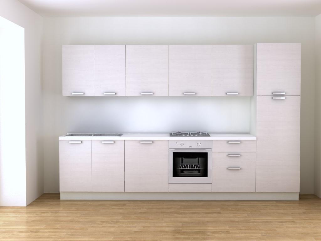 Cucina Bianca E Legno | Cucina Moderna Bianca E Legno