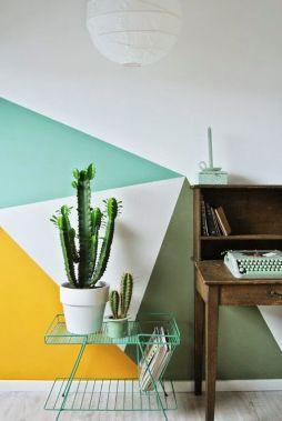decoración paredes formas geometricas