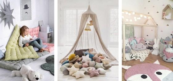Ideas de decoración con cojines para rincones de lectura