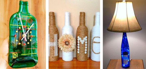 Increíbles adornos con botellas